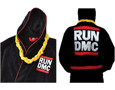 Run DMC Bathrobe with Gold Chain Necklace