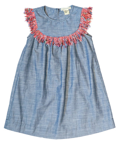 Indigo Fringe Dress