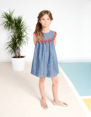 Indigo Fringe Dress - Pip & Squeaks