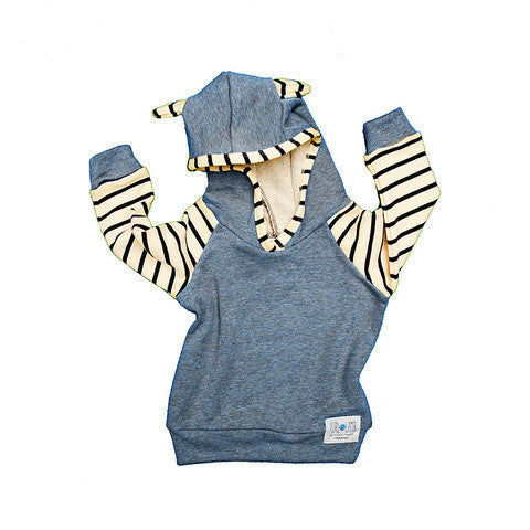 Dallas Hoodie in Denim - Pip & Squeaks