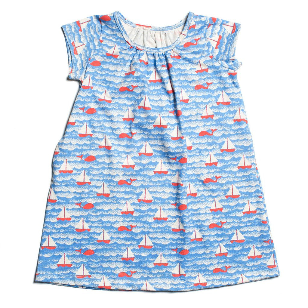 Carly Sailboats Dress - Pip & Squeaks