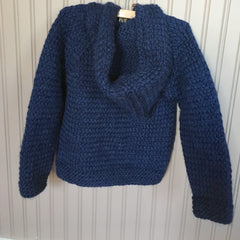 Sweater Coat made from Wool and Alpaca in Navy Blue - Pip & Squeaks