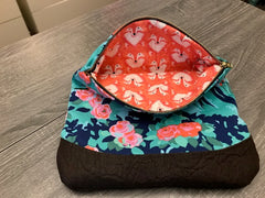 Large Blue Floral Clutch - Pip & Squeaks