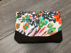 Large Gray Floral Clutch - Pip & Squeaks