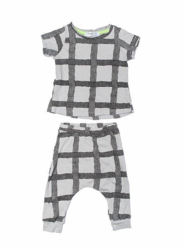 Rebel Gray Grid Set - Pip & Squeaks