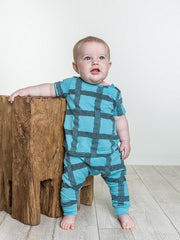 Rebel Blue Grid Set - Pip & Squeaks
