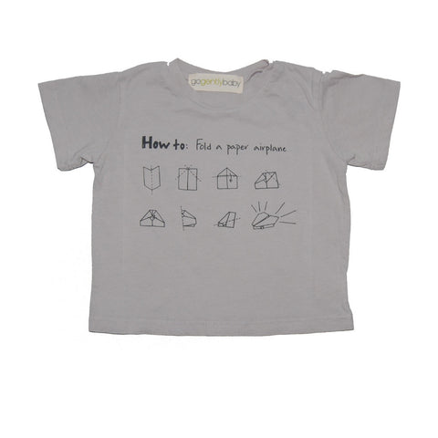 How to Make a Paper Airplane T in Grey