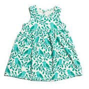 Laura Dress in Navy and Turquoise - Pip & Squeaks