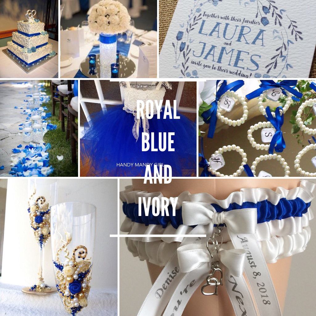 Royal Blue and Ivory Wedding Inspirations
