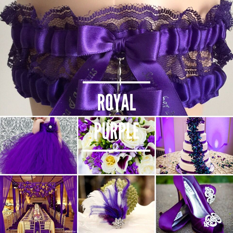 Royal Purple Wedding Garter Inspiration