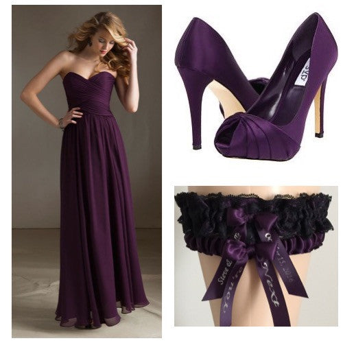 Eggplant Purple Wedding and Prom Inspiration