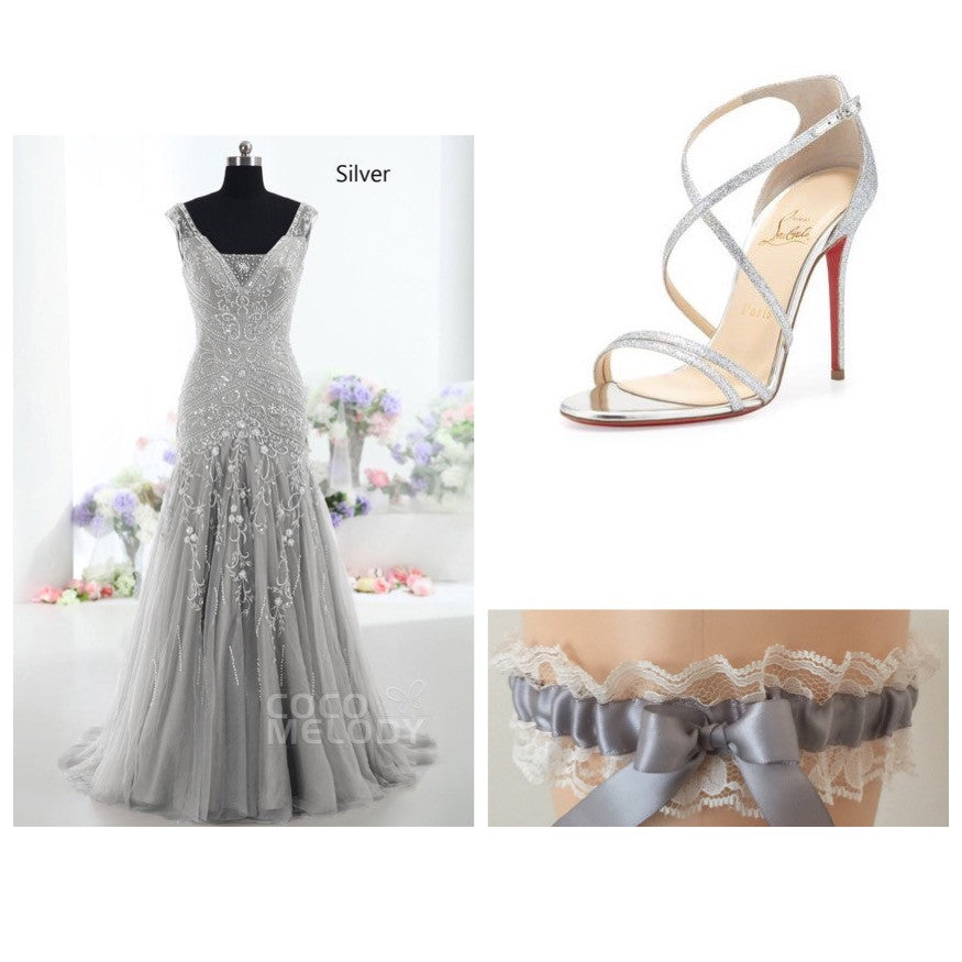 Silver Wedding and Prom Inspiration