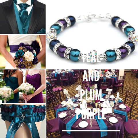 Teal and Plum Purple Weddings