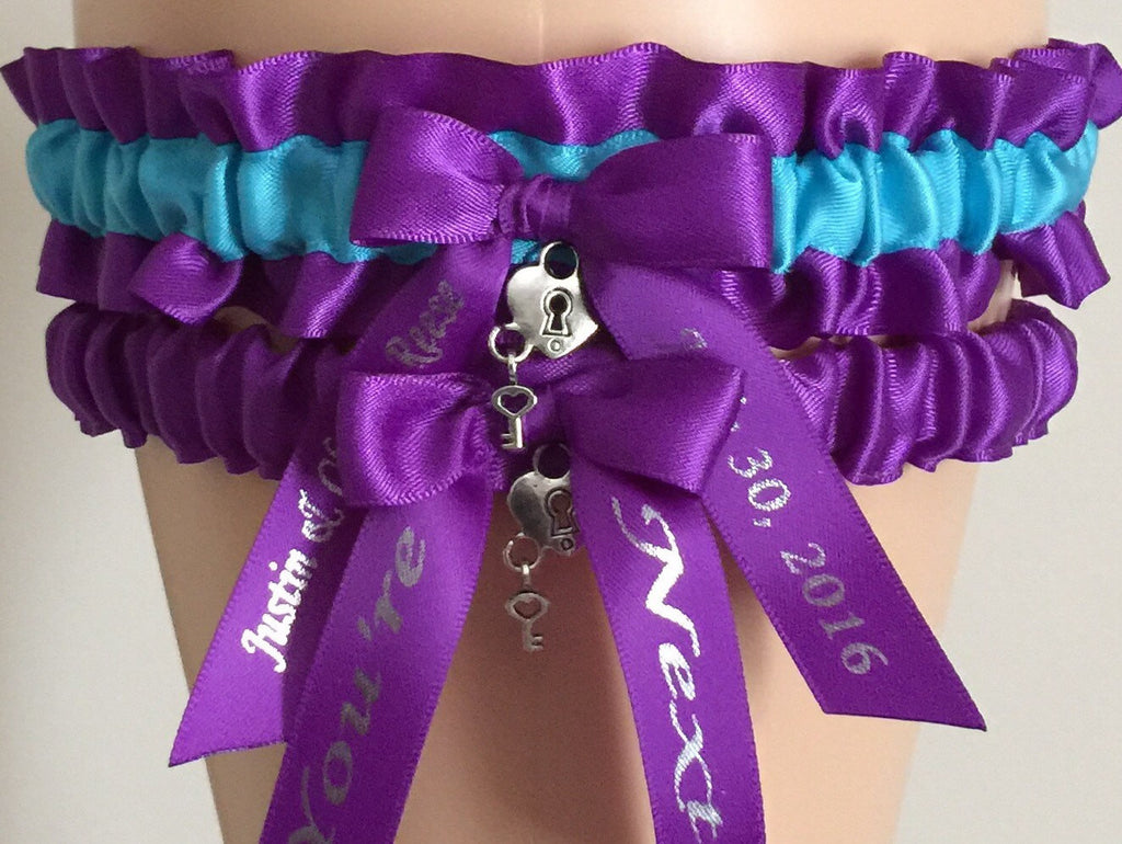 Purple Wedding Garter Set, Choose Your Color,  Purple Bridal Garter Set, Prom Garter, Purple Weddings, Engagement