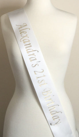 21st Birthday Party Sash, Birthday Party Sash, Birthday Sash, 21st Birthday Party, 21st Birthday Gift, Fun Party Sash, 21st Birthday Favors