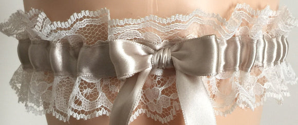 Champagne and Ivory Lace Wedding Garter, Champagne Prom Garter, Champagne Bridal Garter, Ivory Lace Wedding Garter, Homecoming Garter
