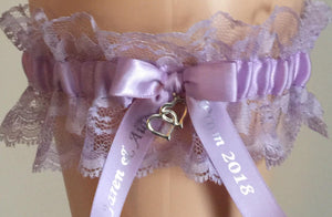 Orchid Purple Wedding Garter, Bridal Garter, Purple Lace Wedding Garter, Garters for Weddings, Prom Garter, Bridal Garters for Weddings