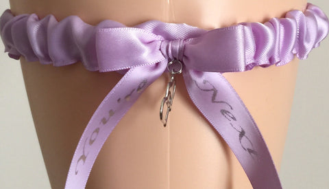Orchid Purple You're Next Wedding Garter