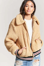 Load image into Gallery viewer, Faux Shearling Sporty Jacket