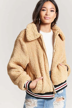 Faux Shearling Sporty Jacket