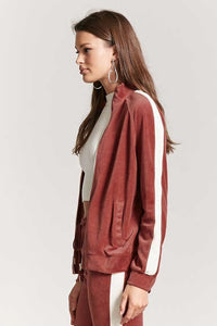 Silky Velour Track Jacket
