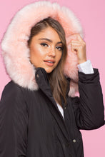 Load image into Gallery viewer, Pink Faux Fur Parka