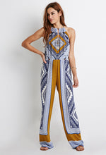 Load image into Gallery viewer, Printed Halter Jumpsuit