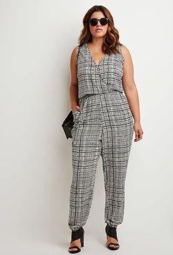 Curvy Grid Jumpsuit