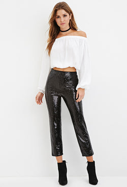 Sequin Crop Pants