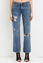 Load image into Gallery viewer, Mid-Rise Wide Leg Crop Jeans