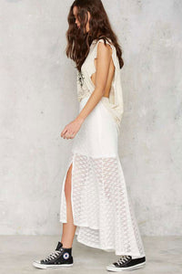MINKPINK Sunshine Lover Crochet Midi Skirt