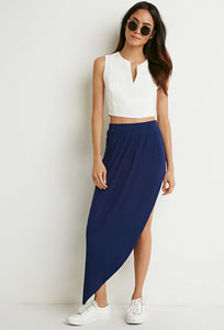 Pleated Asymmetrical Skirt