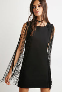 Fringe Shift Dress