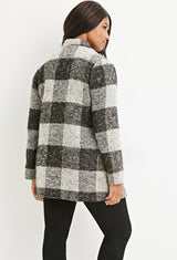 CURVY PLAID COAT