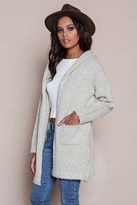 MOHAIR HOODED CARDIGAN