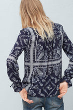 Load image into Gallery viewer, Mango Flowy Printed Blouse