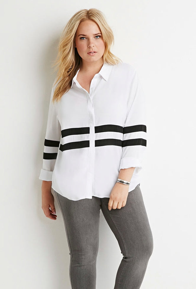 Curvy Stripe Shirt