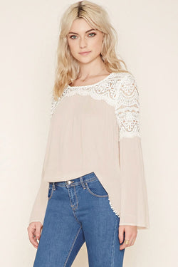 Crochet Long bell Sleeve Top
