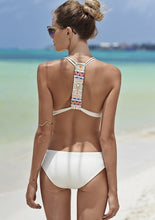 Load image into Gallery viewer, White One Piece Swim Suit