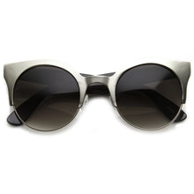Load image into Gallery viewer, Half Frame Cat Eye Sunglasses