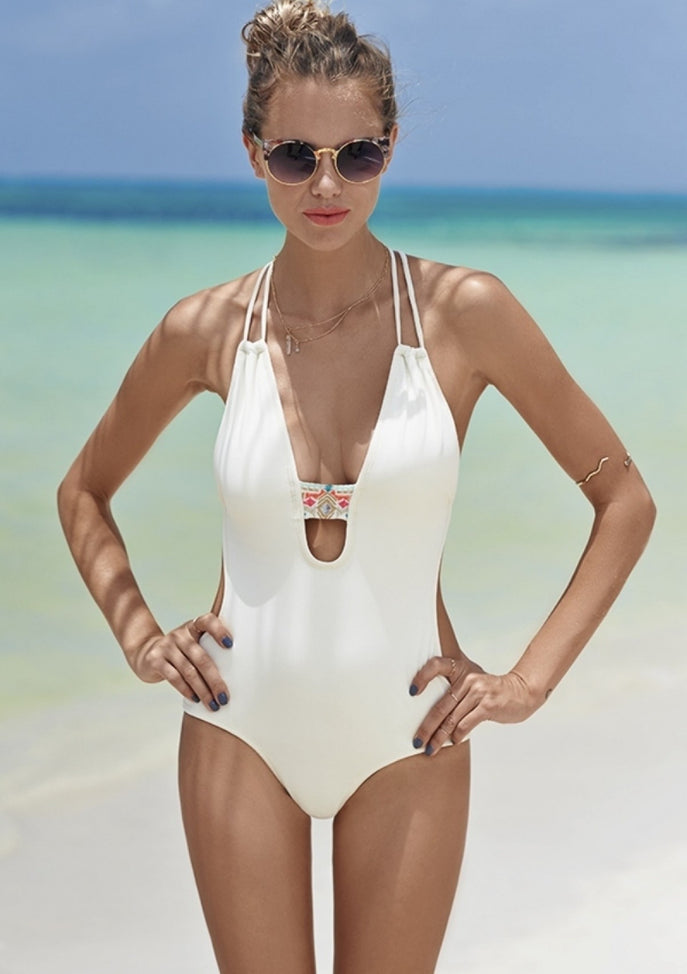 White One Piece Swim Suit