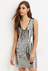 Sequin Shift Dress