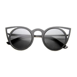 Indie Laser Cut Metal Cat Eye Sunglasses