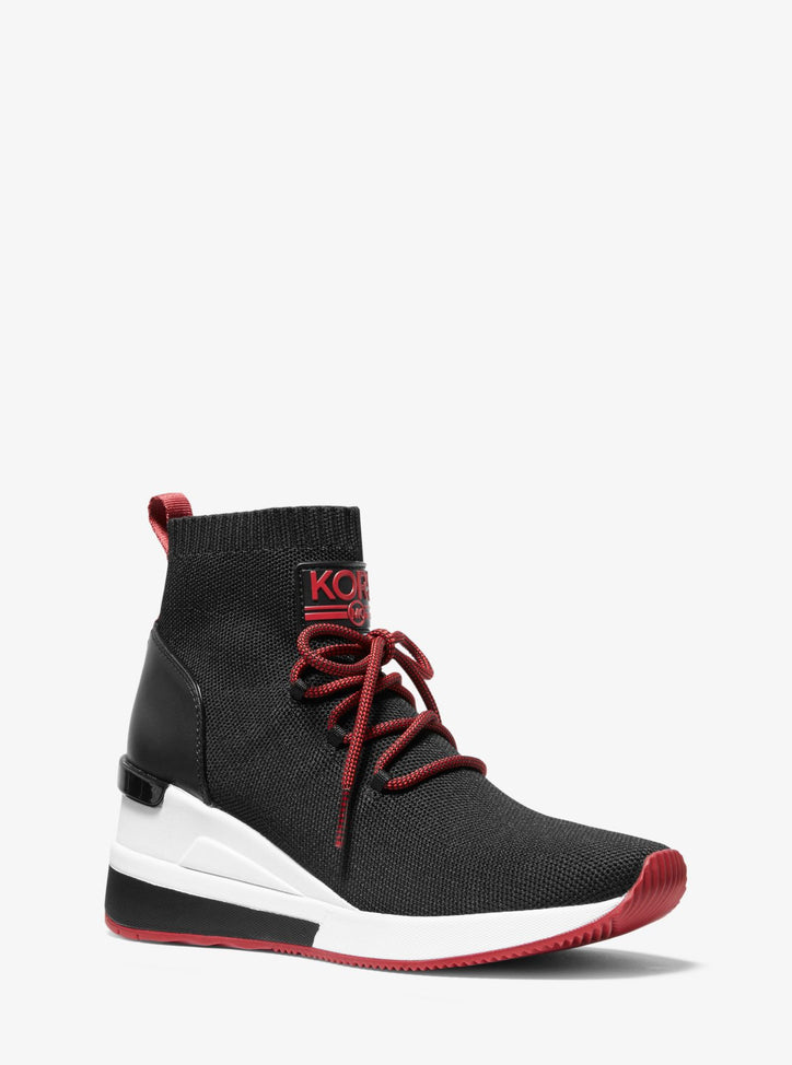 MICHAEL MICHAEL KORS  Stretch-Knit Lace-Up Sock Sneaker