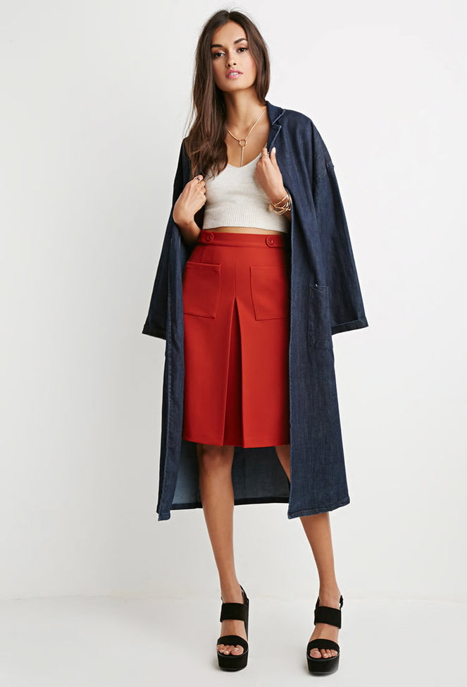 Two Pocket A-Line Skirt