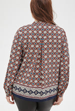 Load image into Gallery viewer, Curvy Abstract Print Blouse