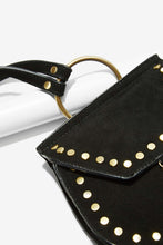 Load image into Gallery viewer, Nila Anthony Black Saddle Suede Bag