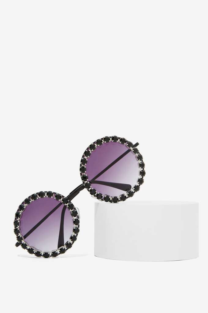 Rad + Refined Retro Glam Circle Sunglasses