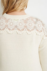 CURVY CROCHET RIB KNIT SWEATER