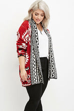 Load image into Gallery viewer, CURVY GEO PRINT CARDIGAN